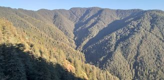 Skandalu punkt, grań, centrum handlowe droga, Shimla, India fotografia royalty free
