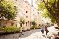 Skandarlija Skandarska, Βελιγράδι, Σερβία στοκ φωτογραφία με δικαίωμα ελεύθερης χρήσης