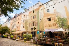 Skandarlija Skandarska, Belgrado, Sérvia imagens de stock