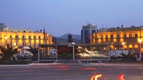Skanderbeg fyrkant i Tirana albacoren arkivfoto