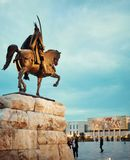 Skanderbeg-Quadrat in der Mitte von Tirana, Albanien stockfoto