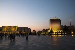 Skanderbeg-Quadrat in Tirana, Albanien lizenzfreie stockbilder
