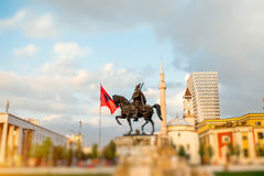 Skanderbeg square royalty free stock photo
