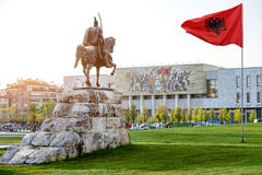 Skanderbeg square stock photos