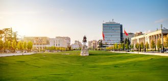 Skanderbeg square royalty free stock images