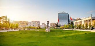 Skanderbeg square Royalty Free Stock Images