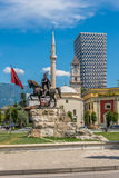 Skanderbeg Square in Tirana . Stock Photo