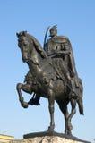 Skanderbeg Statue In Tirana - Albania Stock Photo