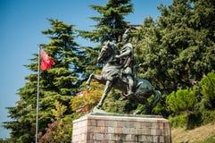 Skanderbeg zabytek w Kruje Zdjęcia Royalty Free