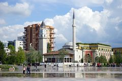 Skanderberg square royalty free stock photography