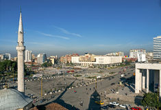 Skanderberg square in tirana albania Stock Photography