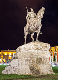 Skanderberg statue Royalty Free Stock Photography