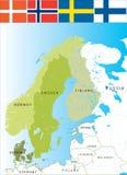 Skandinavien. Stockbild