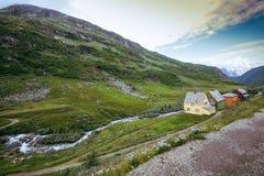 Skandinavien berglandskap Fotografering för Bildbyråer