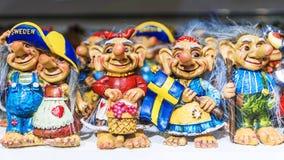 Skandinavier mit der Schleppangel fischen Andenken von Schweden Stockbild