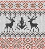 Skandinavisch de winterornament Cristmas naadloos gebreid patroon royalty-vrije illustratie