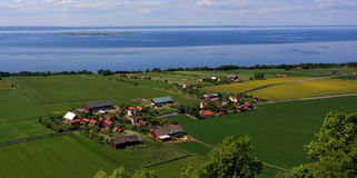 Skandinavisch dorp Royalty-vrije Stock Foto's