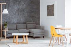 Skandinavisch grijs en wit decor stock afbeelding