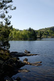 Skandinavisch landschap stock afbeelding