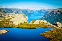 Skandinavisch landschap Royalty-vrije Stock Afbeelding