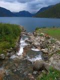 Skandinavisch landschap Royalty-vrije Stock Foto's