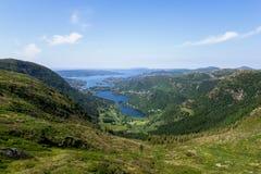 Skandinavisch landschap Stock Foto