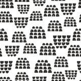 Skandinavisch naadloos patroon voor decoratie Royalty-vrije Stock Foto's