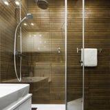 Skandinavisch ontwerp in badkamers royalty-vrije stock afbeeldingen
