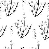 Skandinavisch Stijl Naadloos Patroon vector illustratie