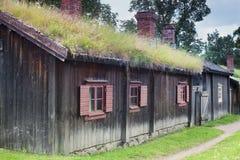 Skandinavisch Traditioneel Plattelandshuisje Royalty-vrije Stock Fotografie