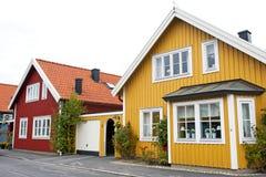 Skandinavische architectuur Royalty-vrije Stock Foto