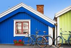 Skandinavische architectuur Stock Foto's