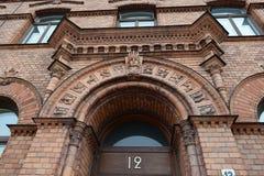Skandinavische architectuur Royalty-vrije Stock Afbeeldingen