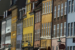 Skandinavische Häuser Lizenzfreie Stockfotos