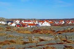 Skandinavische Häuser Lizenzfreies Stockbild