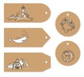 Skandinavische reeks van de markering van de krabbelgroet royalty-vrije illustratie