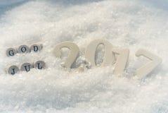 Skandinavische Vrolijke Kerstmis Stock Afbeelding
