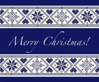 Skandinavische Vrolijke Kerstmis Stock Foto