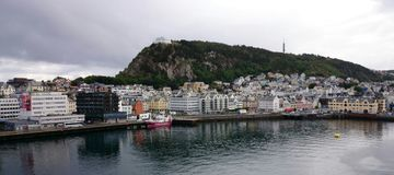 Skandinavischer Hafen Stockfotos