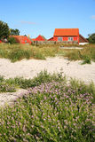 Skandinavisches Haus, Snogebaek, Bornholm, Dänemark Stockbilder