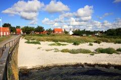 Skandinavisches Haus, Snogebaek, Bornholm, Dänemark Lizenzfreie Stockbilder