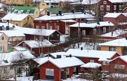 Skandinavisk arkitektur arkivbild