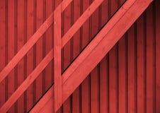Skandinavisk röd lantlig vägg och trappuppgång Arkivfoto