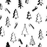 Skandinavisk sömlös modell av jul Fotografering för Bildbyråer