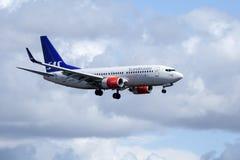 Skandinaviska flygbolag, SAS, Boeing 737 - 783 Arkivfoton