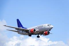 Skandinaviska flygbolag, SAS, Boeing 737 - 683 Arkivbild
