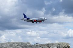 Skandinaviska flygbolag, SAS, Boeing 737 - 7BX Royaltyfri Fotografi