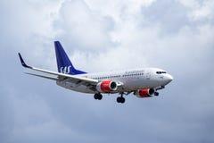 Skandinaviska flygbolag, SAS, Boeing 737-76N Royaltyfri Bild