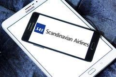 Skandinaviska flygbolag, SAS logo Royaltyfria Foton