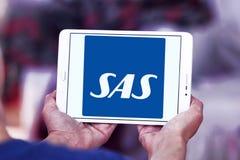 Skandinaviska flygbolag, SAS logo Fotografering för Bildbyråer